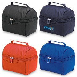 Lunch cooler in black, navy, red & royal | PROBIZ